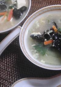 ♡きくらげのニンニク鶏がらスープ♡