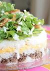 パーティーに☆牛肉のサラダケーキ寿司