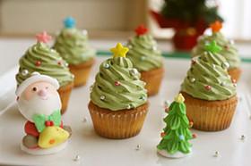 簡単!クリスマスツリーのカップケーキ★☆
