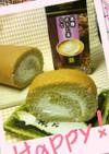 黒糖ほうじ茶ラテ*和風ロールケーキ