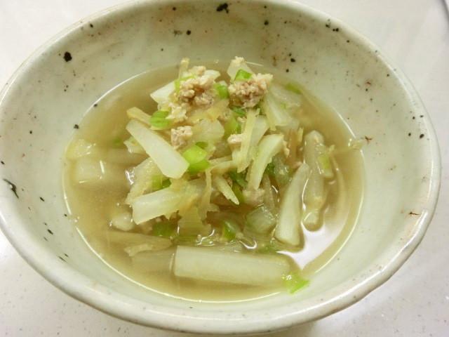 風邪ひきさんに大根と生姜のあったかスープ