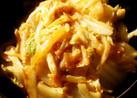 ザーサイとキムチの白菜マヨネーズ炒め