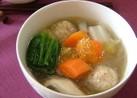 栄養満点♡鶏肉団子と野菜のポカポカスープ