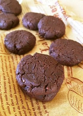 妹お気に♪サラダ油と米粉のココアクッキー
