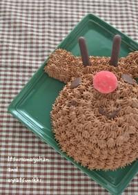 トナカイのベリー&チョコクリスマスケーキ