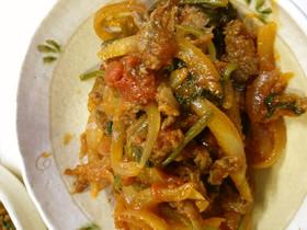 薄切り牛肉と野菜のトマト煮込み