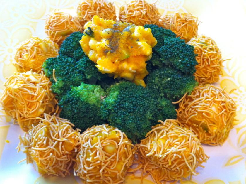 簡単☆ぱりぱり食べる南瓜チーズボール☆