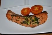 鮭ムニエルのオーブン焼き♪トマトと一緒にの写真