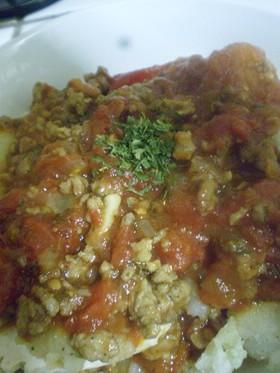 トマトたっぷり鶏肉のミートソース