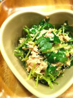 生姜たっぷり♪みつ葉とツナのサラダ