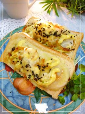 じゃが芋と桜えびの海苔風味トースト