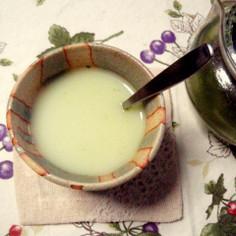 緑茶でミルクティー