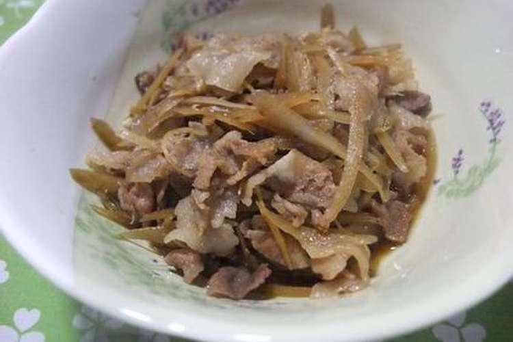 煮 豚肉 ごぼう しぐれ