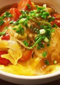 めんつゆで簡単トマト天津飯