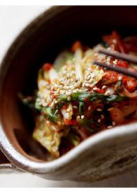 冬の保存食。白菜のキムチ