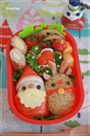 クリスマス♡キャラ弁*サンタ&トナカイの写真