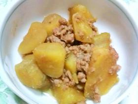 サツマイモと豚挽き肉の炒め煮
