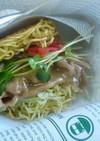 マルちゃん正麺の豚骨バーガー!