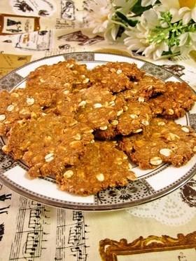 きな粉入り押し麦のハードクッキー