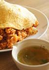 チキンライスとセロリのスープ