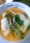 ピリ辛餃子スープ☆
