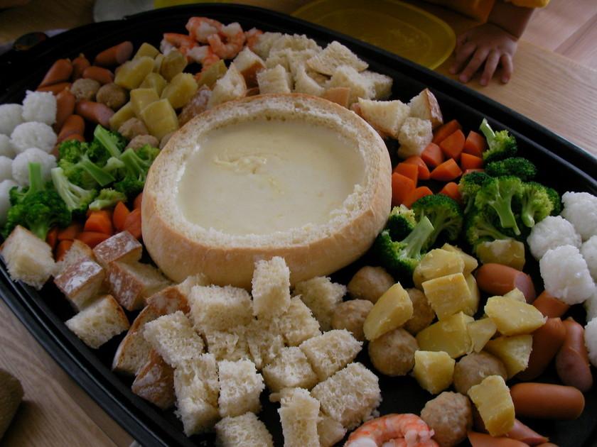 最後の最後までおいしいチーズフォンデュ♪