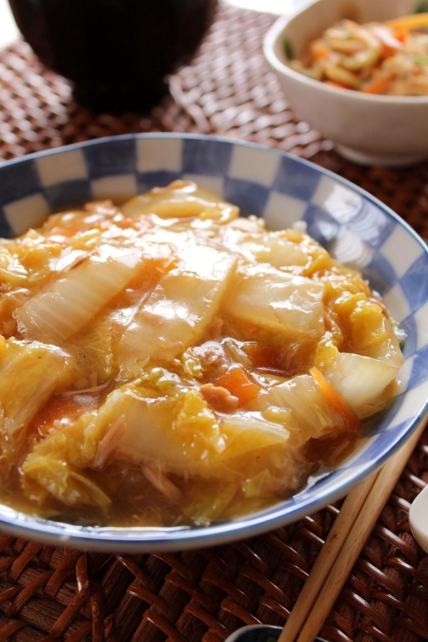 白菜とツナの簡単&節約♪中華丼