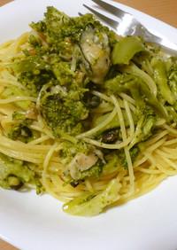 ●牡蠣とブロッコリーのオイルパスタ●