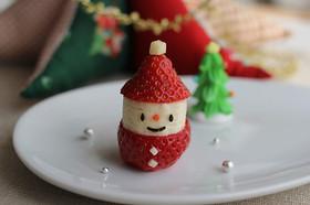 クリスマスに♪イチゴとバナナのサンタさん