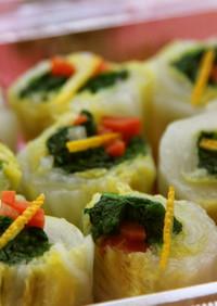青菜の白菜巻き