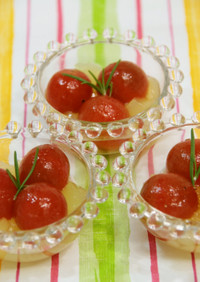 ミニトマトのマリネ☆キラキラジュレ寄せ☆