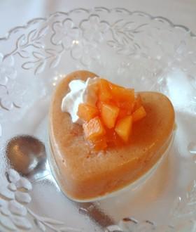 牛乳不使用・柿のプリン ビーガンOK