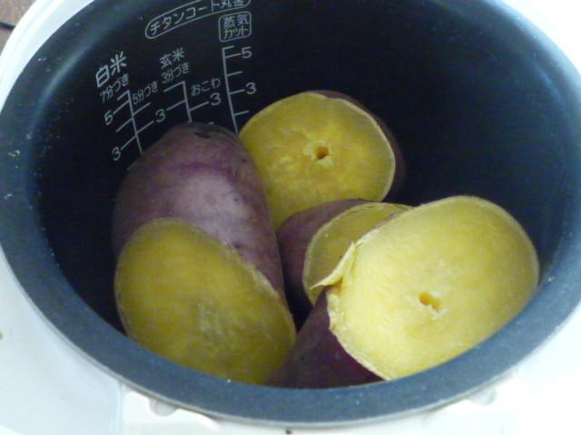 炊飯器でさつま芋