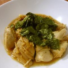 鶏胸肉とえのきのわさび醤油炒め