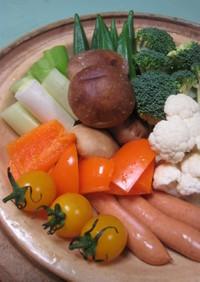 うちの定番「蒸し鍋/温野菜」
