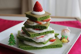 クリスマス♪ほうれん草ホットケーキツリー