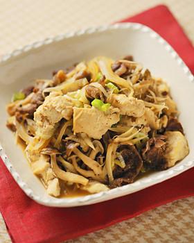 フライパンで作る肉豆腐