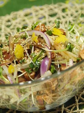 柚子香るマグロ佃煮酵素サラダ