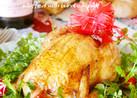 丸鶏のローストチキン 牛蒡ピラフ詰め