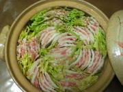 白菜と豚バラ肉のミルフィーユ鍋の写真