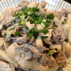 長芋と豚肉の簡単炒め