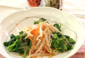 菜の花のナムル風サラダ