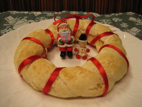 HM&豆腐deクリスマスリースパン◆◇