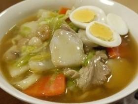 里芋de正麺味噌ちゃんぽん風