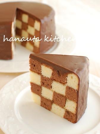 サンセバスチャン ダミエ柄チョコケーキ