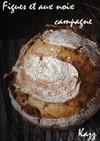 ヨーグルト酵母フィグと胡桃のカンパーニュ