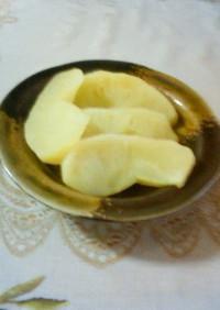 りんごのレンジで簡単煮