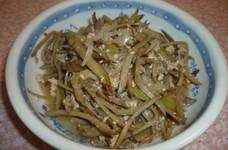 牛肉とごぼうと豆腐の甘辛煮