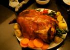 マリネしてから焼く 丸鶏のロースト♪