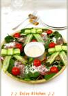胡瓜リボン♪ほうれん草と生ハムのサラダ